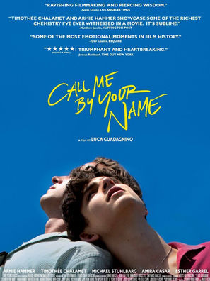 Llamame por tu nombre Call me by your name Carteleras de Cine