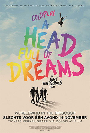 Coldplay A Head Full Of Dreams Pelicula en Carteleras de Cine